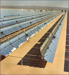 Photo of a solar thermal power plant in California.